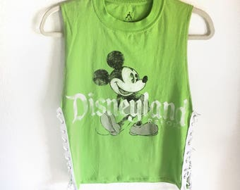 Disneyland Side Lace-Up Muscle Tee