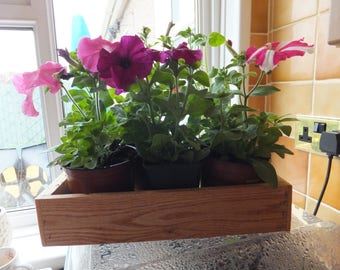 Handmade Wooden Trays Ideal  For Display Cuttings Seeds Plants Limitless Uses