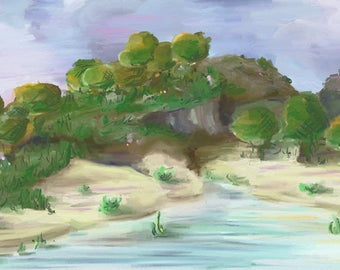 Original Minecraft Landscape Print