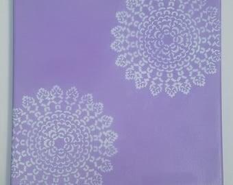 Lavender and Aqua Canvas (Customizable)
