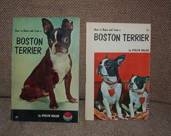 Vintage Boston Terrier dog books 1950s Evelyn Miller