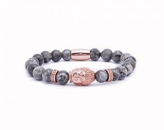 Rose gold Buddha bracelet