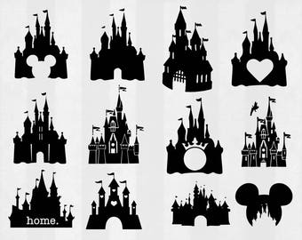 Castle SVG Bundle, Castle clipart, Castle cut files, Castle svg files for silhouette, files for cricut, svg, dxf, eps, cuttable design