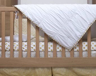 Baby Bedding Set - The Gold Dust Bedding Collection 100% Cotton - Glamour Range