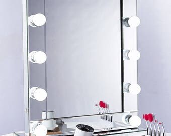 NICHES Mirror Encased Hollywood LED Makeup Vanity Mirror Light Professional
