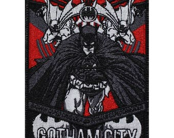 Official DC Comics The Justice League Batman The Dark Knight 'Gotham City' Iron On Superhero Embroidered Patch