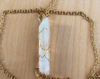 Clear Quartz crystal leg chain // Leg Chain // Clear Quartz