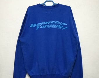 Vintage Benetton Team Formula 1 United Colors Of Benetton Sweater Sweatshirt