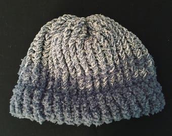 Super Soft Blue Knit Hat