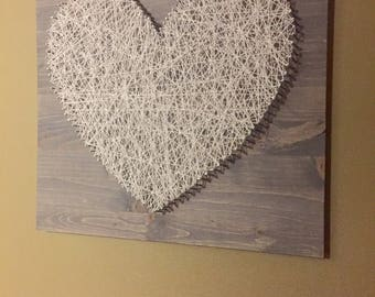 Rustic Farmhouse String Art Heart