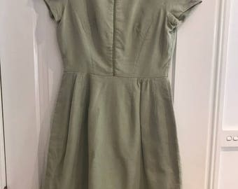 Vintage 1960s light green day dress