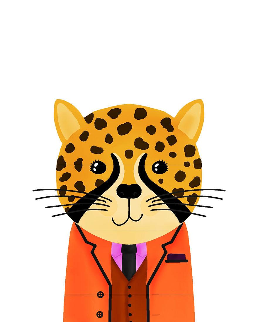 Cheetah - Animal Buddies Printable Childrens Wall Art for Nursery ...