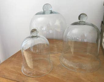 Set of vintage glass bells