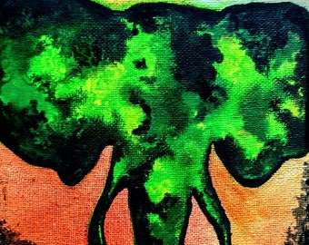 Elephant | Watercolor Canvas Painting