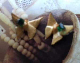 Origami butterfly studs!