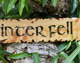Winterfell, Game of Thrones, Reclaimed Timber Sign, Direwolf, Hand Painted, Wood Sign, Gift Ideas, Man Cave