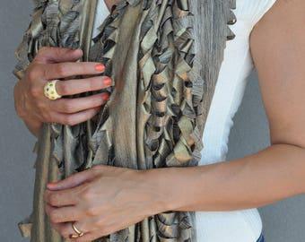 Gold shrug, Gold bolero, Blanket scarf, Wedding shrug, Gold Shawl , Infinity scarves, Big scarf, Boho autumn scarf, Chunky Gold scarf, Wrap