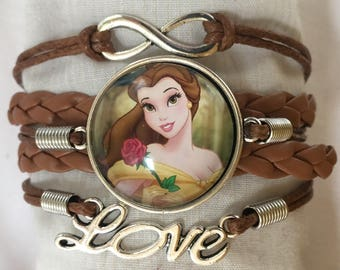 Princess Belle Infinity Love Bracelet