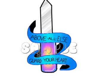 Guard Your Heart - Glossy Statement Sticker