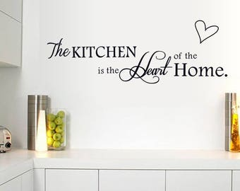 Kitchen Home Vinyl Wall Sticker Inspirational Motivational Quote Wall Decal
