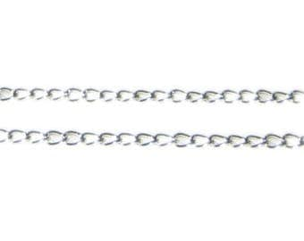 """4mm Silver Link Chain, 40"""" length"""