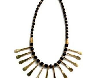 Brass necklace, Kenya necklace, handmade jewelry, gift Jewelry, ladies jewelry, girls jewelry