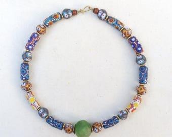 Trade beads choker necklace, Kenya necklace, handmade jewelry, gift Jewelry, ladies jewelry, girls jewelry