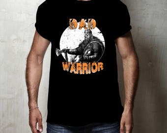 Design Tribe Dad Warrior T shirt