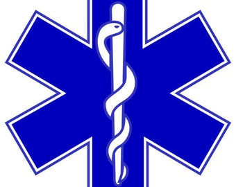 Star of Life Vinyl Decal