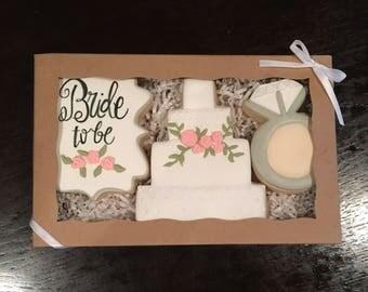 Bridal cookie set (3 cookies)