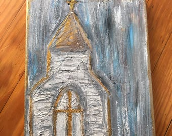 Medium Abstract Church Painting