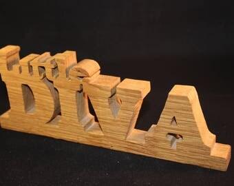 Little Diva - freestanding wooden  sign