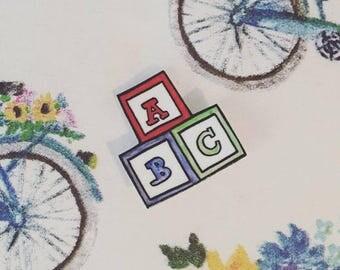 Alphabet Boy Pin