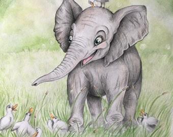 Elephant Love- Print