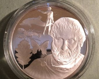 Aristotle - Sterling Silver History of Science (Proof)
