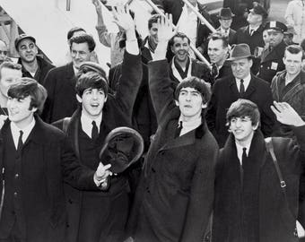 Black and white photo Beatles infinity baryta 310g canson paper.