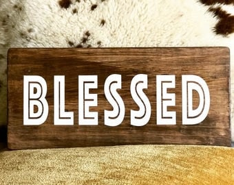 Blessed sign on wood