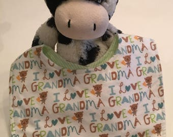 I Love Grandma Baby Bib