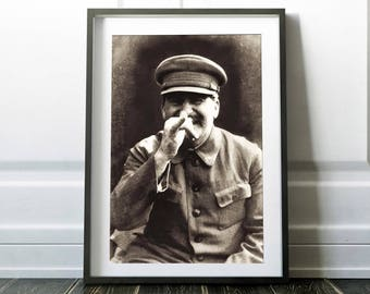 Funny Joseph Stalin / Stalin art print / Rare vintage photo / Stalin poster / Vector print / Stalin art / Stalin print / Digital print /