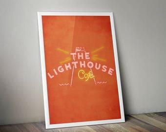 La La Land Minimalist Print - La La Land Poster Print, La La Land Film Wall Art, The Lighthouse Cafe Minimalist Art Print.