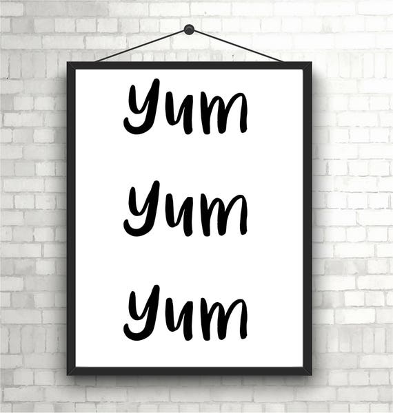 Quote Wall Art Nz : Yum wall print art quote home