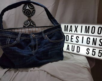 Recycled Denim Jeans Handbags