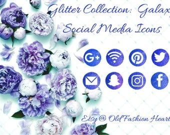 The  Glitter Collection : Galaxy Social Media Icons
