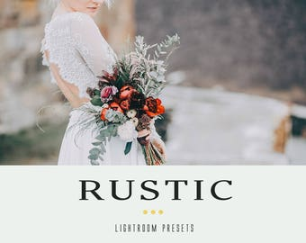 Rustic professional lightroom presets