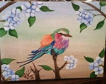 Colorful Bird Acrylic Painting