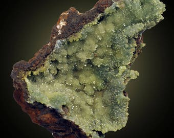 Conichalcite; Ojuela Mine, Mapimi, Durango, Mexico  --- minerals and crystals