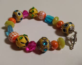 Sunny Days, Neon Colored Bracelet