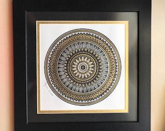 Gold Mandala Wall Art, Mandala Art Wall, Meditation Art, Gold Wall Art, Mandala Art, Housewarming Gift, Christmas Present, Bohemian Wall Art