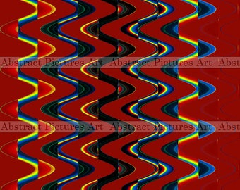 Rainbow 3068-1404, Abstract Picture, Digital Abstraction