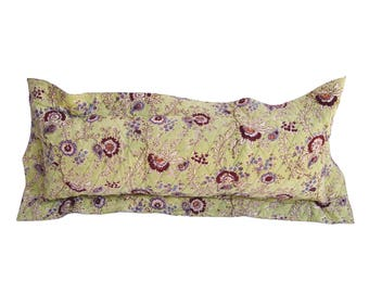 quilted floral flange pillow